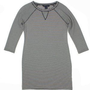 French Connection Navy Blue Striped Nautical Dress